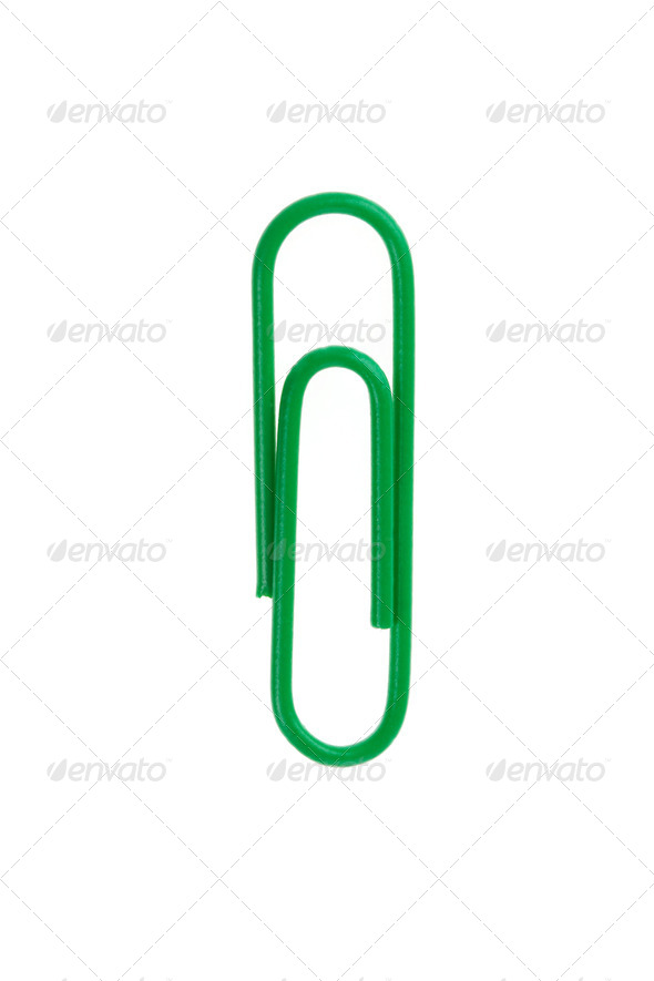 paper clip isolated on white - Stock Photo - Images