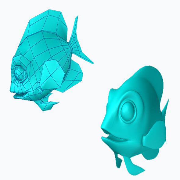 happy fish - 3DOcean Item for Sale