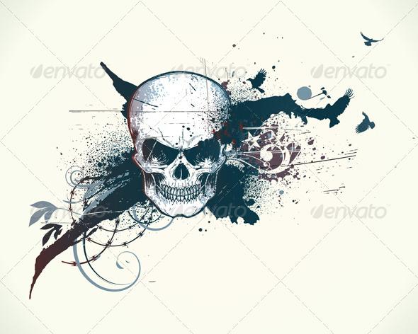 Grunge illustration - Backgrounds Decorative