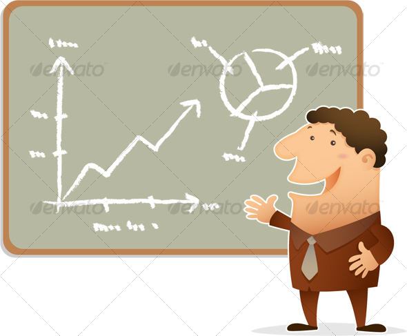 Businessman Presentation - Business Illustrations