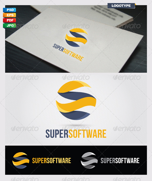 Super Software Logo Template - Vector Abstract