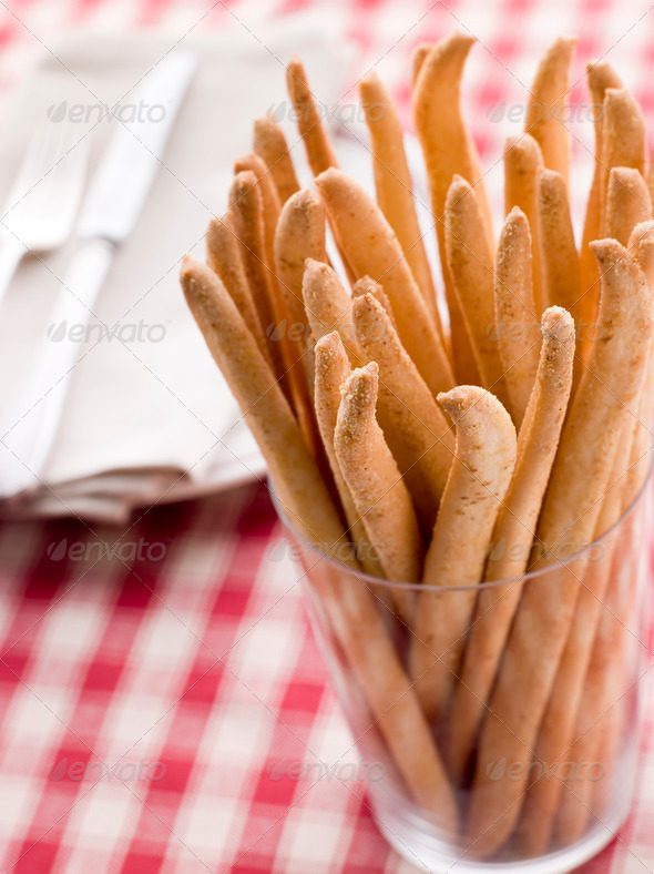 Grissini Bread Sticks - Stock Photo - Images