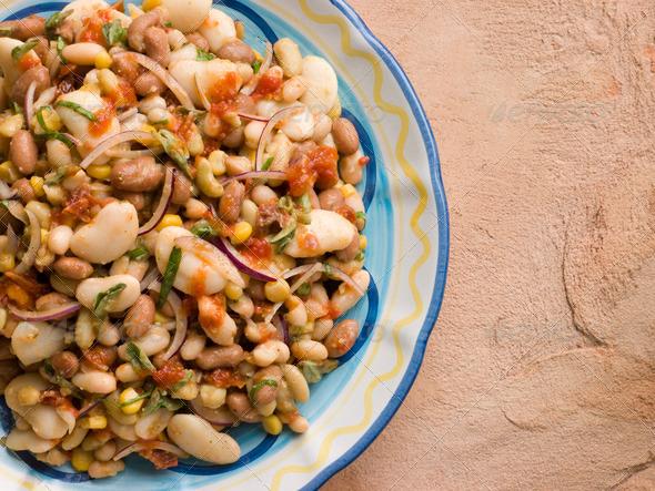 Tuscan Bean Salad - Stock Photo - Images