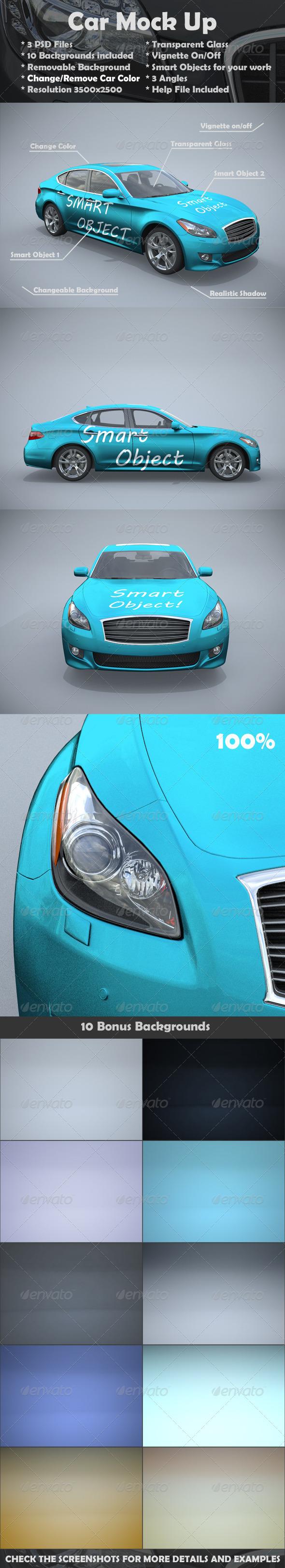 Car Mockups - Vehicle Wraps Print