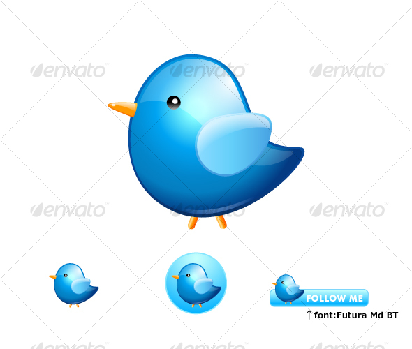 Twitter Bird - Abstract Icons