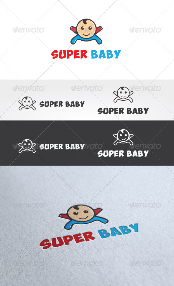 Super Baby Logo Template - Humans Logo Templates