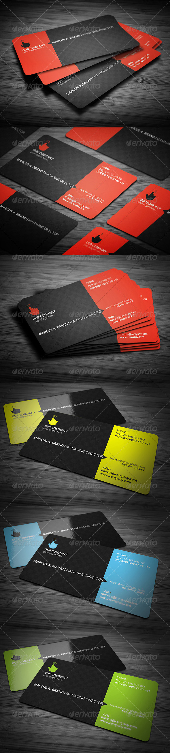 Rounded Corner Business Card by 89PixeL | GraphicRiver