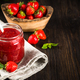 Strawberry jam in the glass jar - PhotoDune Item for Sale