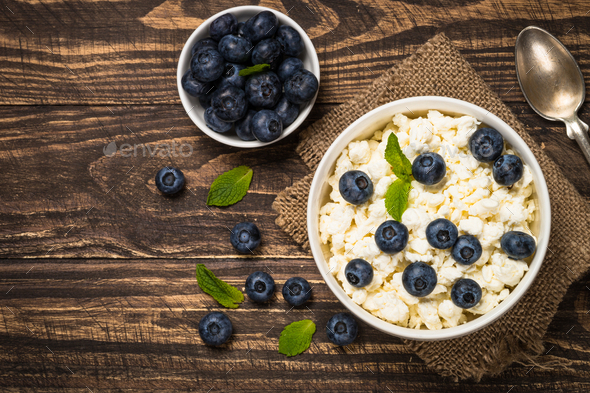 Curd or cottage cheese in white plate - Stock Photo - Images