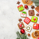 Christmas gingerbread cookies with holidays decorations - PhotoDune Item for Sale