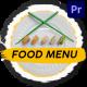 Food Menu Slideshow   Premiere Pro MOGRT - VideoHive Item for Sale
