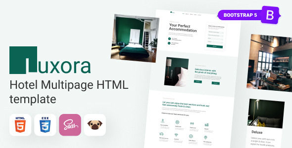 Incredible Luxora - HTML5 Luxury Interactive Hotel Template