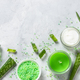 Aloe vera cosmetic at stone table top view - PhotoDune Item for Sale