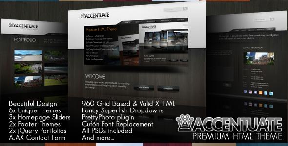 Free Download Accentuate Premium HTML Theme / Business Portfolio Nulled Latest Version