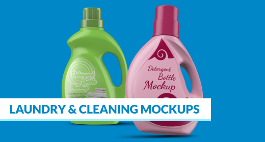 Laundry & Cleaning Mockups