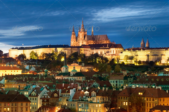 Prague Castle Cityscape - Stock Photo - Images