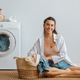 woman is doing laundry - PhotoDune Item for Sale