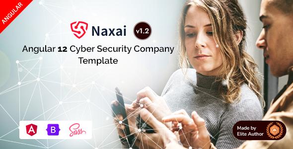 Naxai - Angular 12 Cyber Security Agency Template