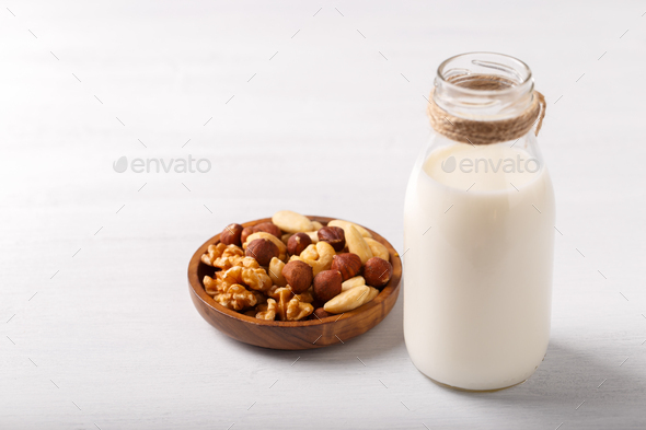 Healthy natural non dairy milk - Stock Photo - Images
