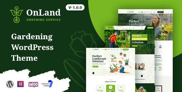 OnLand - Gardening WordPress Theme