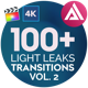 4K Light Leaks Transitions Vol 2 | For FCPX - VideoHive Item for Sale