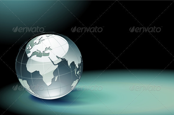 Glossy Earth Globe   - Decorative Vectors