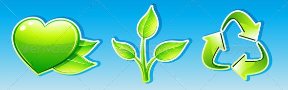 Ecology icon set - Nature Conceptual