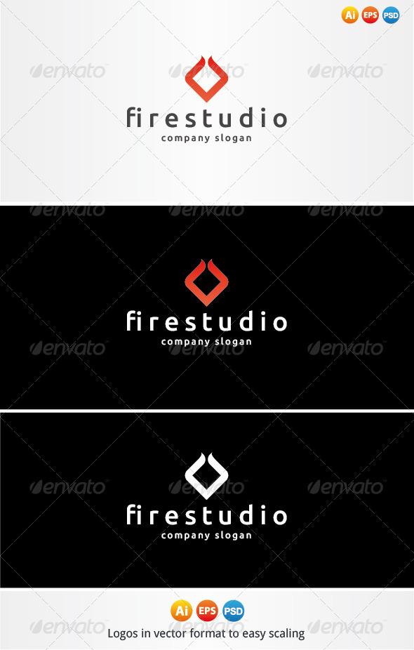 Fire Studio Logo - Symbols Logo Templates