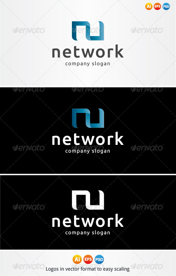 Network Logo - Letters Logo Templates