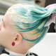Washing Emerald Hair Color of Young Woman with Shampoo in Beauty Salon - PhotoDune Item for Sale
