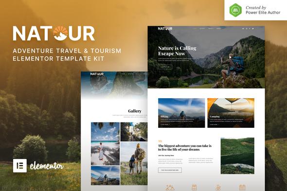 Natour – Adventure Travel & Tourism Elementor Template Kit