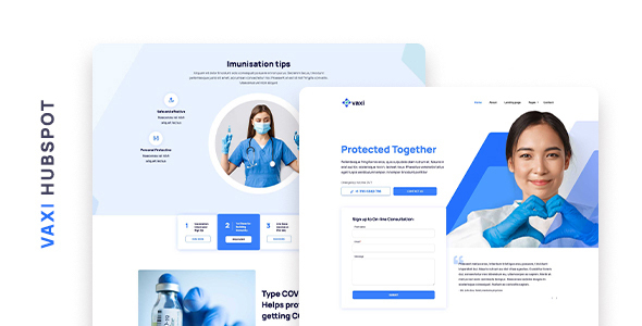 Vaxi – COVID Vaccination and Medical HubSpot Theme
