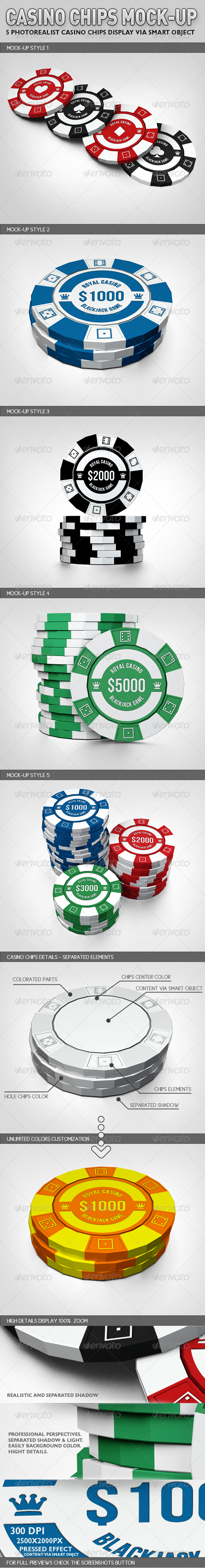 Casino Chips Mock-up - Miscellaneous Product Mock-Ups