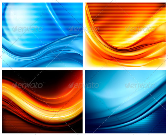 Set of business elegant colorful backgrounds - Backgrounds Decorative