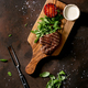 Grilled beef steak served with creamy sauce, grilled vegetables - PhotoDune Item for Sale