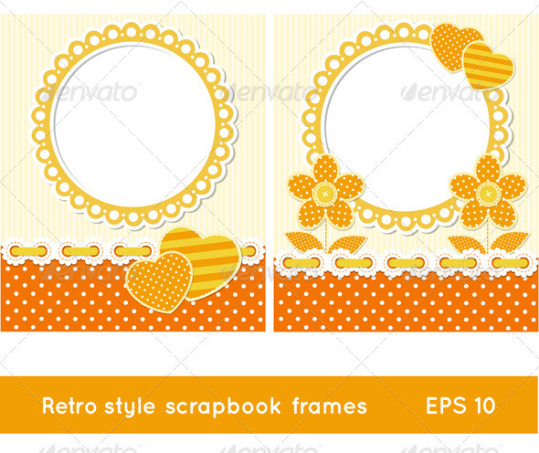 Retro Style Scrapbook Frames - Decorative Vectors