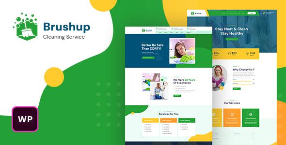 Brushup - Cleaning Service Company WordPress Theme