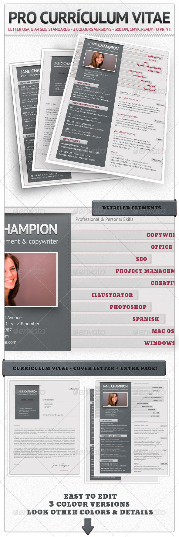 Pro Currículum Vitae - Resumes Stationery