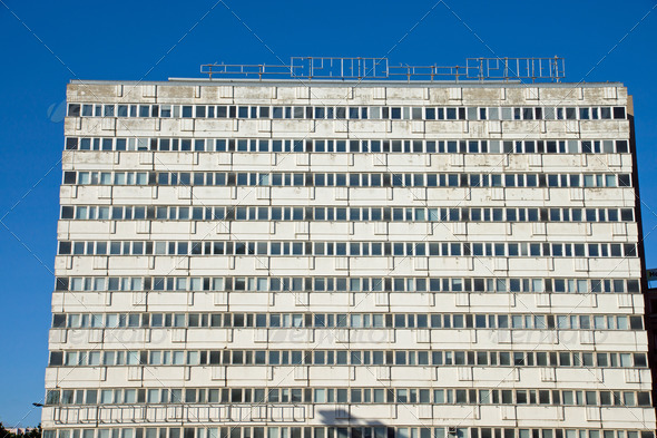 Empty apartment building in Berlin - Stock Photo - Images