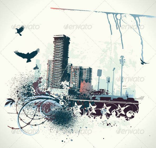 Urban background - Decorative Vectors