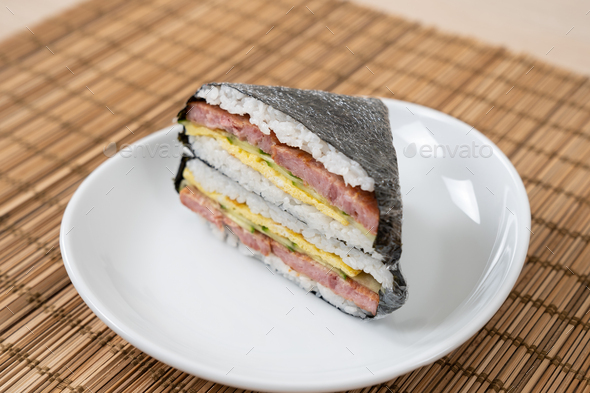 Korean and Japanese style sushi kimbap wraps - Stock Photo - Images