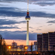 The skyline of Berlin after sunset - PhotoDune Item for Sale