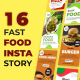 Fast Food Instagram Stories - VideoHive Item for Sale