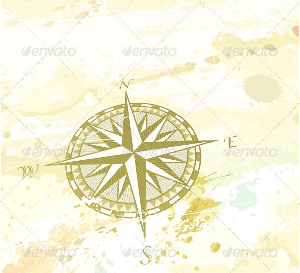 Retro compass windrose - Decorative Vectors