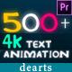 500 Premiere Pro Title - VideoHive Item for Sale