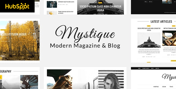 Mystique - Hubspot Theme for Blog and Magazine Purpose