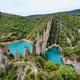 Amazing sharp rocks near Finestras uninhabited village at the edge of Canyelles reservoir, Spain - PhotoDune Item for Sale