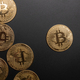 crypto currency coin isolated on black background - PhotoDune Item for Sale