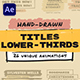 Hand Drawn Brush Titles Lower Thirds - VideoHive Item for Sale
