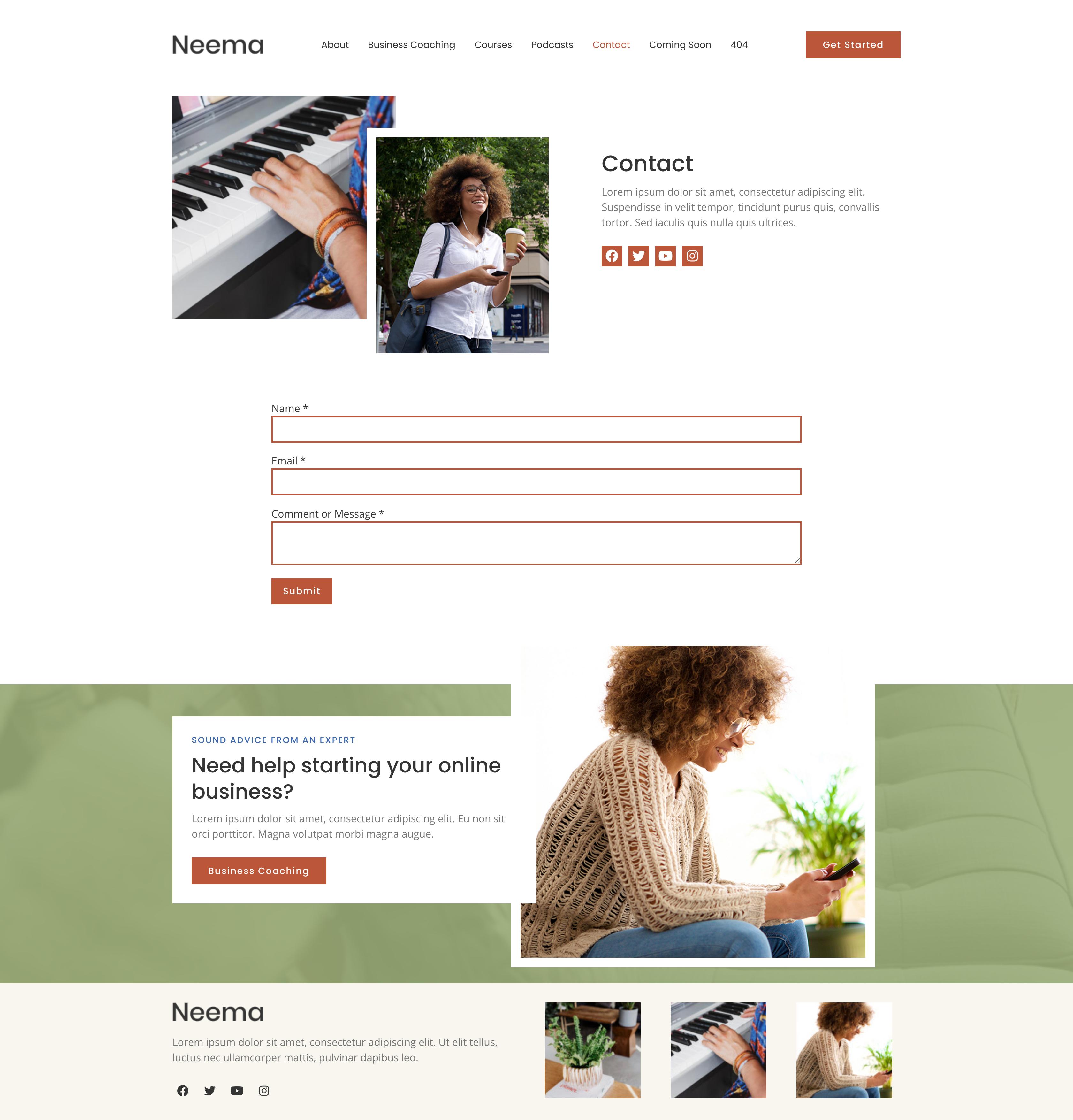 Neema - Business Coach Elementor Template Kit by KroxieDigital   ThemeForest